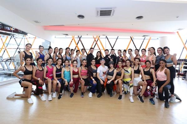 วี ฟิตเนส ต้อนรับสาวงาม 30 คนสุดท้ายจากเวทีมิสไทยแลนด์เวิลด์ 2018