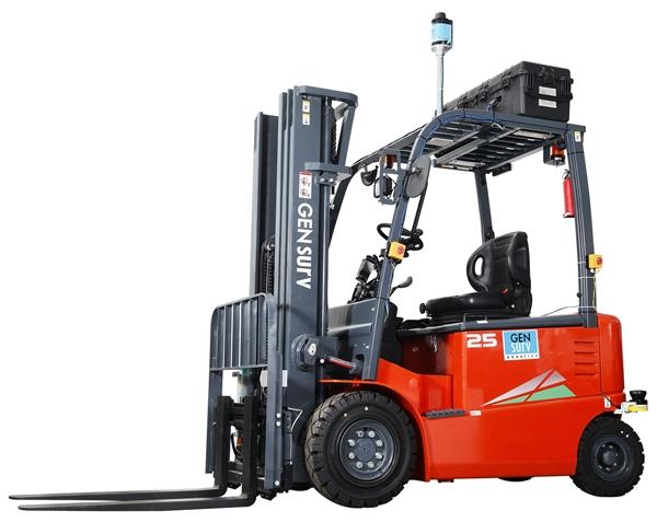 """เจ็นเซิฟ บริษัทหุ่นยนต์สัญชาติไทย นำ รถฟอร์คลิฟท์อัตโนมัติ """"พลายเอจีวี"""" รุกตลาดหุ่นยนต์และระบบออโตเมชั่น"""