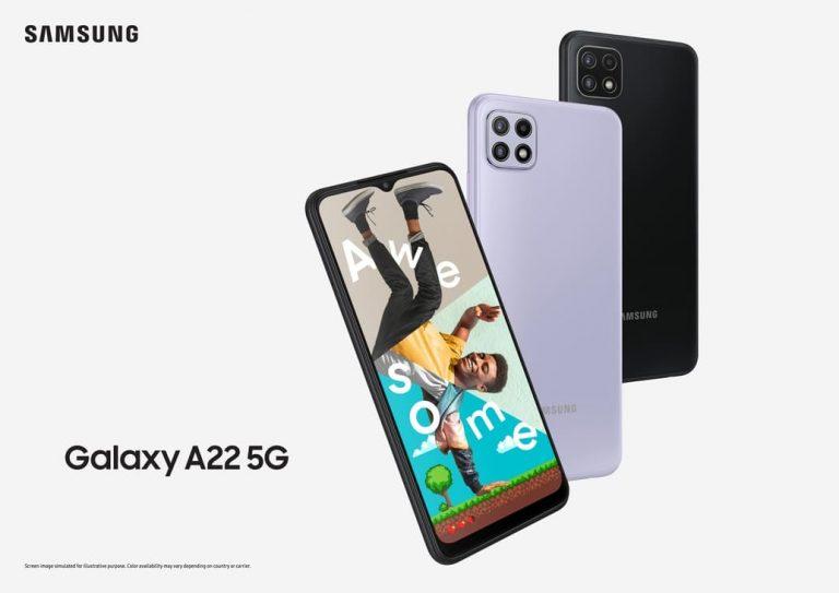 """Galaxy A22 5G"" สุดยอดสมาร์ทโฟน 5G เริ่มต้นเพียง 1,289 บาท! ที่ร้านค้าในเครือ AIS เท่านั้น"