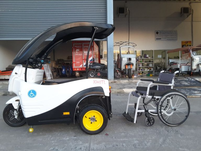 """วช. ต่อยอด """"รถยนต์สามล้อไฟฟ้าสำหรับผู้สูงอายุและคนพิการทางการเคลื่อนไหว"""""""