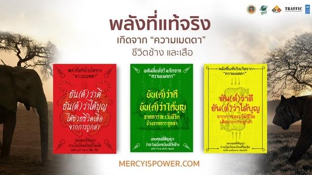 แคมเปญ 'Mercy is Power – พลังที่แท้จริงเกิดจากความเมตตาชีวิตช้างและเสือ'